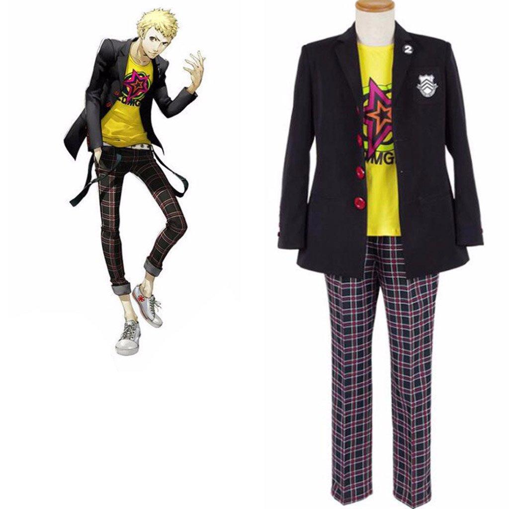 Anime Persona 5 Ryuji Sakamoto Cosplay Costume School Uniform Outfit T-shirt
