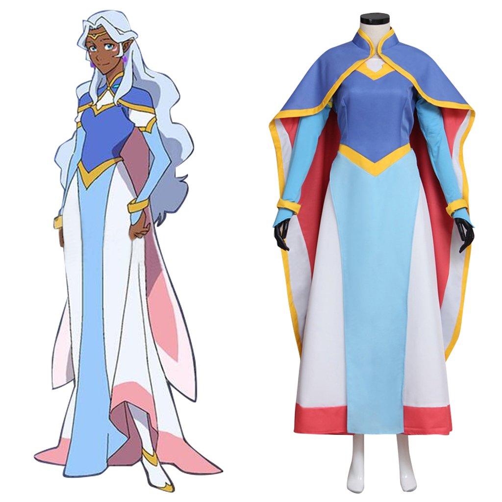 Voltron: Legendary Defender Allura Girls Party Dress Set Cosplay Costume