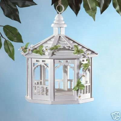 White Gazebo Bird Feeders