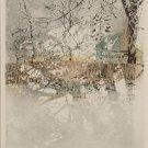 Ulf Onsberg Signed Ltd Ed Art Print- SNOW FENCE
