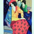 Itzchak Tarkay Signed Ltd Ed Art Print Blue Mood