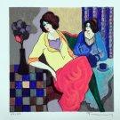 Itzchak Tarkay Signed Ltd Ed Art Serigraph Sisters