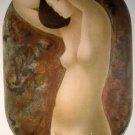 1980 Alain Bonnefoit Standing Nude, Hand Signed Art