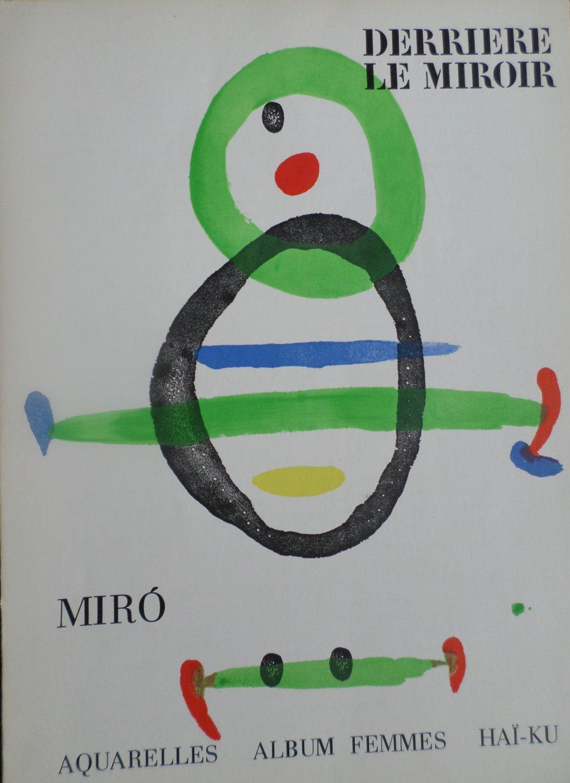Derriere le miroir joan miro dlm 169 with color b w for Miro derriere le miroir