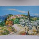 Marcel Belvisi Ville de Montagne Etat S/N Litho Print