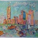 Wayne Ensrud Signed Art Print City Harbor