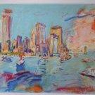 Wayne Ensrud Signed Proof Art Print City Harbor