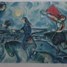 """MARC CHAGALL """"LOVERS OVER PARIS"""" Limited Edition  Lithograph"""