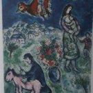 Marc Chagall SUR LA ROUTE DU VILLAGE Art Print