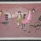 Harold Baumbach Signed Proof Lithograph Print Park Bench w/People