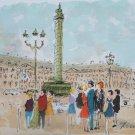 Urbain Huchet Signed Art Proof Lithograph Print Trafalgar Square