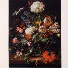 J D De Heem Flowers in a Vase Lithograph Art