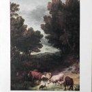 Thomas Gainsborough Lithograph Print Landscape w/Cattle