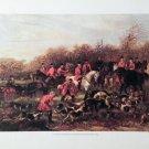 F.P. Palizzi Coursing Lithograph Horses