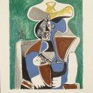 Pablo Picasso Marina Art Print Blue, Green & Brown
