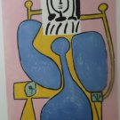 Pablo Picasso Marina Art Woman and Blue Rose Print Collection Marina Picasso