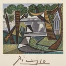 Pablo Picasso Le Vert Egalant House Marino Picasso Art Lithograph Print