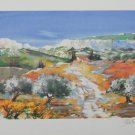"""ELLA FORT """"LANDSCAPE IN PROVENCE FRANCE"""" Hand Signed Limited Edition Lithograph"""