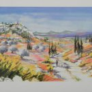 """ELLA FORT """"LANDSCAPE IN PROVENCE VALLEY FRANCE"""" Hand Signed Lithograph"""