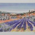 Ella Fort Lavender Fields II S/N Lithograph