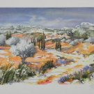 Ella Fort Landscape in Provence S/N Lithograph