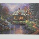 Georgina NOBLE Spring Cottage Quaint Landscape Signed Lithograph Art