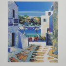Signed and Numbered Kerfily Serigraph Print Mykonos II