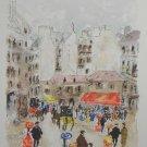 Paris Scene Signed & Numbered Urbain Huchet Lithograph