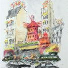 Urbain Huchet Moulin Rouge Hand Signed Limited Edition Lithograph