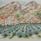 """Urbain Huchet """"Lavender Fields"""" Hand Signed Large Lithograph"""