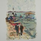Urbain Huchet Le Phare Hand Signed Limited Edition Lithograph