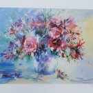 Flowers on Display Litho Print Signed & Numbered Roche