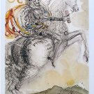 Salvador Dali DON QUIXOTE Limited Edition Facsimile Signed Lithograph