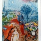 Marc Chagall Lovers in Paris Romantic Art