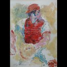Signed LeRoy Neiman Art JOHNNY BENCH MLB Cin. Reds HOF