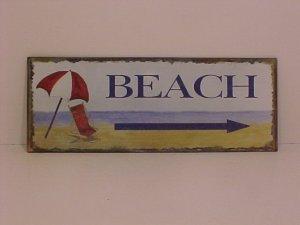 Beach Sign Made Of Metal