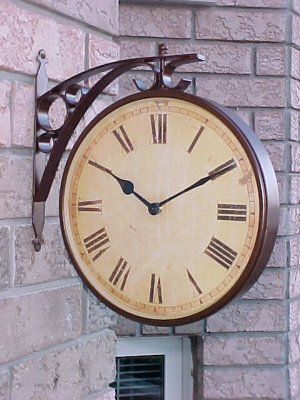 Single Sided Train Station Clock