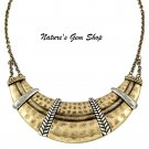 Brass Bib Necklace