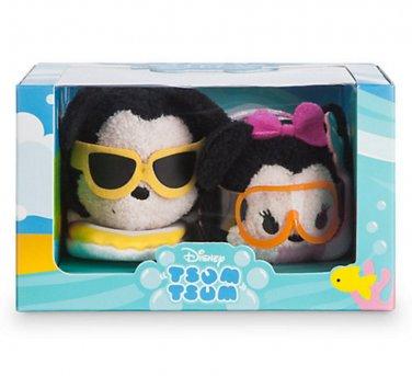 Mickey and Minnie Hawaiian Tsum Tsum Set Disney Store (Set of 2)