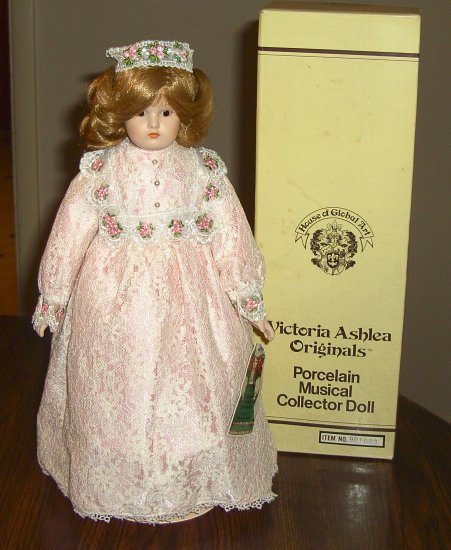 "Victoria Ashlea Porcelain Doll ""She Plays Music"