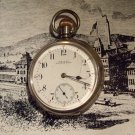 Waltham Traveler  Pocket Watch 1908 Sterling Silver  Case by ALD (Dennison) 16 Size (ref.#698)
