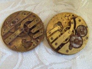 Antique Key wind Key set Pocket Watch Movement Parts 40mm  (703-2)