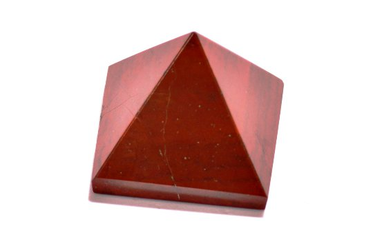 Finely Polished Red Jasper - (22-30MM) Set Of 5 Pyramids