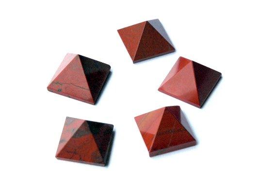 Red Jasper Pyramid - Set of Five