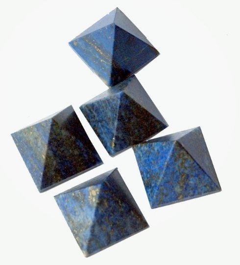 Whole Sale Deal : 12-18 mm Natural LAPIS Lazuli (50 pcs) pyramid cabochon have lots of gorgeous