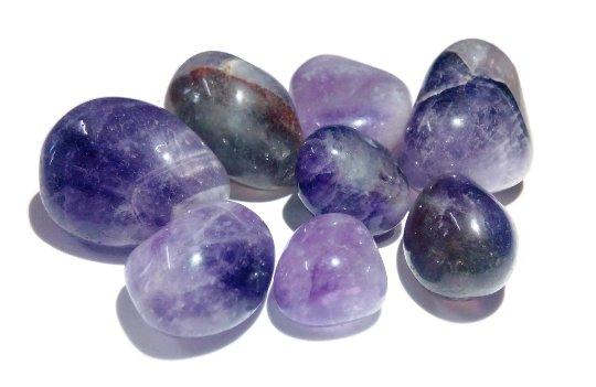 Amethyst Tumbled Stone Set Of 7