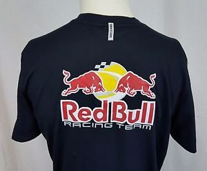 """NEW Red Bull Racing Team """"Gives You Wings"""" Black Puma T-Shirt Size M Medium"""