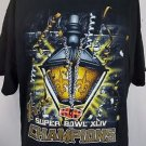 New Orleans Saints Super Bowl XLIV NFL Champions Mardi Gras Black Shirt - XL