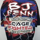 BJ Penn Cage Fighter UFC MMA Authentic Black Shirt Size XXL 2XL NEW!