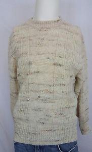 Pendleton Pure Virgin Wool Beige Cream Oatmeal Men's Sweater - L Large